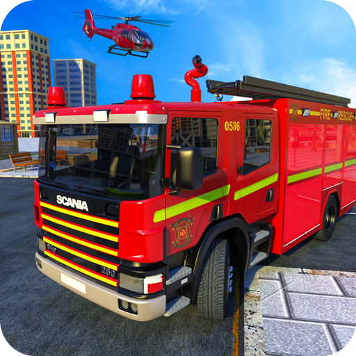 American FireFighter Truck City Emergency Rescue APK MOD Monnaie Illimites Astuce